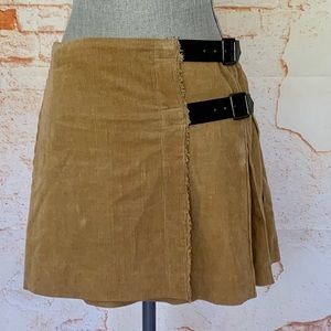 Burberry Corduroy Pleated Skirt